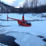 Deep snow landings with Pollux Aviation's own tundra boards.